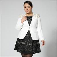 Plus Size Women's Suit Coat 2014 Fashion Office Ladies Blazer Short Jackets L-5XL Big Size Female Business Suit Overcoat Black