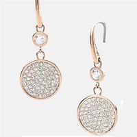 Brincos Grandes Brand Bijoux Hook Earrings Rhinestone Round Drop Earrings For Women