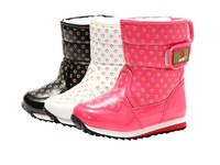 Patent Leather Boots for Girls Waterproof Winter Boots Kids Warm Snow Boots European and American Children Shoes Slip Resistant