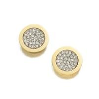 Brincos Grandes 2014 Rhinestone Round Stud Earrings For Women