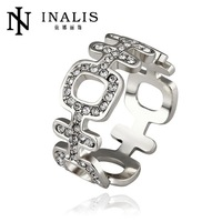 wholesale price 10pcs/lot R513   Free  Nickle Free  New Fashion Jewelry 18K Real Gold Plated Ring For Women