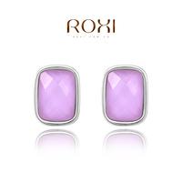 new ROXI Gift Classic Genuine Austrian Crystals Fashion Purple Zircon Drop Earrings Hot Sale