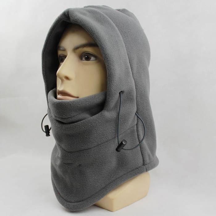One pieces 6 in 1 Thermal Fleece Balaclava Hat Hood Police Swat Ski ...