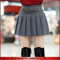 Free Shipping Whole Sale Fashion Spring &Autumn Women Bust Skirts Woolen Short Skirts  Ladies Wool Geometric Pattern Puff Skirt