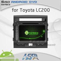 car styling radio cd dvd player for Toyota Land Cruiser 200 LC200 with bluetooth ipod transmitter igo or garmin gps china map