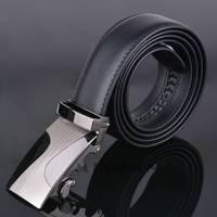 Hot fashion men's belt plus size Leather automatic buckle belts elegant luxury black belts lengh 122cm hight quality SV008942 3F