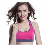 Seamless Yoga fitness bra with removable pads Push Up big size Yoga Sport Bra Genie Bra women sports/yoga/gym/running bra