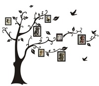 New LARGE Black Photo Picture Frame Tree Vine Branch Removable Wall Decor Decal Wall Sticker Free Shipping