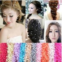 60pcs/lot All-match Bride Headdress Full Stars Pearl Chain DIY Wedding Hair Accessories Christmas Accessories
