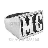 Free shipping! Motorcycles MC Ring Stainless Steel Jewelry Punk Motor Biker Men Ring SWR0257