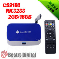 New 4K Box CS918II Quad Core RK3288 Mini PC 2GB+16GB Android TV Box  With XBMC Smart TV Media Player with Remote Controlle