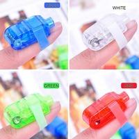 100PCS LED Finger Light Lamp LED Party Laser Finger Light Beam Torch Light Ring