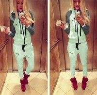 2014 Winter Autumn New Fashion sportwear 2 pcs Women thin sport suit track suit On sale