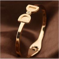 Titanium Steel 5.7cm Diameter butterfly natural stone european charm vintage jewelry balance bijoux women bracelets BR507