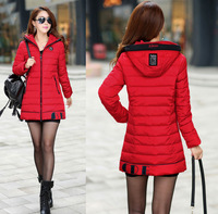Plus size 4XL winter woman coat 2014 down-jacket newCotton Hooded winter coats women's down jacket XL-4XL JBL5810YR