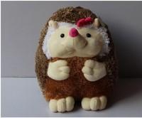 lovely plush pink bow hedgehog toy cartoon hedgehog doll big girl hedgehog toys gift dolls about 50cm