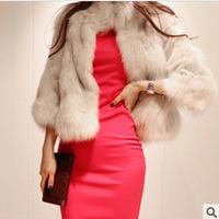 Artificial wool imitation fur coat fur fashion short dresses fur fox fur coat