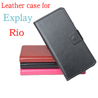 For Explay Rio,3 Colors Dedicated Flip Leather Slip-resistant Phone Cover Case For Explay Rio Card Holder Bags Wallet