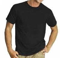 blank cotton T shirt promotion t shirt plain black cotton tee 190gsm unisex tshirt printing logo