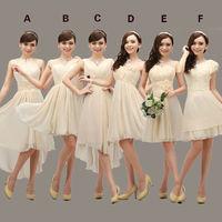 6 different style 4 colors short desigual 2014 hot sale wedding bridal dresses,high quality special price vestido de festa.S-XL