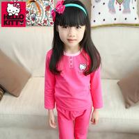 Genuine Hello Kitty Girls Underwear 2014 New Fashion Fine Cotton Lycra Long Johns