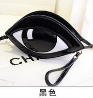 New handbag hand diagonal package Korean fashion wild personality stereotypes eyes packet PU wave packet