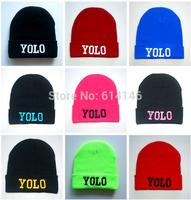 YOLO Beanie Winter Skullies Street Hip-hop Hats Knitted Hats Cap Hip Hop Warm Beanies Fashion Winter Unisex Cap hat
