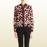 Fashionable Women's Gorgeous Jacket Faux Leather Patchwork Ethnic Suit  Blazer Fashion Outerwear  CA 13