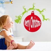 Christmas gift merry christmas sticker for wall decor 2014 new design zooyooxmas13 chrismas home decorations vinyl wall decals