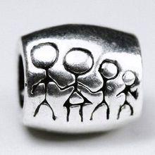 Min order $10 free shipping 1Pc Jewelry 925 Family Silver Bead Charm European Bead Fit BIAGI Bracelet H540 Wholesale