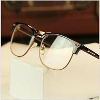 2014 vintage men eyeglasses half-frame fashion eye glasses brand women optical frame myopia glasses frame Oculos de grau G334