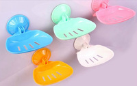 Min. order is $15 (mix order) Seamless 2600 multicolour bathroom vacuum suction cup soap holder folding soap box