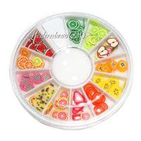 120 PCS 3D Fimo Fruit slice Wheel Nail Art DIY Decoration