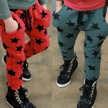 Низкая цена малышей мальчики свободного покроя длинные брюки звезды шаблон хлопок брюки брюки бесплатная доставка