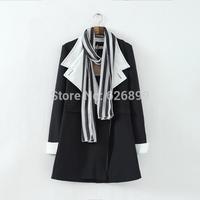 2014 Autumn Fashion Women's Cotton Trench Coat With Scarf Long Sleeve Big Collar  Leisure Windbreaker Coat    CA14