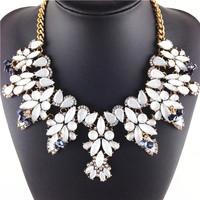 2014 Trendy Colorful Sweet Acrylic Fashion Necklaces & Pendants Statement Charm Choker Ribbon necklace women Accessory Jewelry