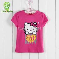 Retail 2014 summer Best selling Children's clothes kids short sleeve cotton t-shirt cartoon tops LittleSpring GLZ-S0221