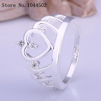 wholesale Jewelry 10pcs/lot R407 925 Silver plated new design finger ring for lady Sterling Silver women rings