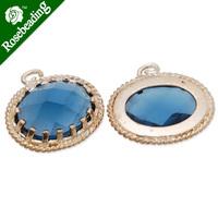 15x16.5mm matt gold plated framed glass,Faceted glass,montana,connectors,gemstone bezel,Sold 5pcs/lot-C4164