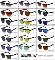 Wholesale 20pcs/lot Sun Glasses Clubmaster Sunglasses Women Brand Designer Cat Eye Glasses Man Sunglass gafas de sol Men oculos