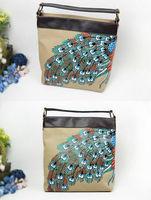 Casual models of original hand-painted handbags summer bags Ethnic Tide brand handbags summer diagonal package