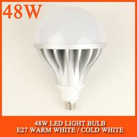 10PCS/lot 48W LED bulb lamp High brightness 5730SMD Cold white/warm white AC85-265V Free shipping