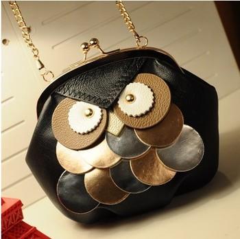 2014 новый корейский дизайнеры сумки мини цепи женщин бумажник женщин сумки на ремне сова диагональ пакет женщин кожаная сумка