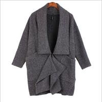 European Warm Winter Woolen Trench Coat 2014 Fashion Women's Plus Size Overcoat Big Size Female Long Cardigan Drop Shipping