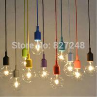 Art deco e27 base pendant night market pendant lamps plastic silica gel kit single pendant light multicolour zero accessories