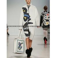 European And American 2014 New Fashion Women's Overcoat Graffiti Printed Trench Coat Women Outerwear CA 16