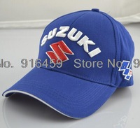 2014  Suzuki  Embroidery Limited Edition Sports cap Black Blue F1 racing car baseball cap Motorcycle cap Drop shipping
