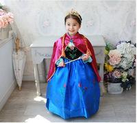 2014 NEW Retail  Girl Hot Princess Dresses Brand Girls Frozen Dress  Autumn  tutu kids dress For Children Clothing