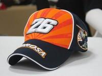 2014 Daniel Pedrosa signature 26#  F1 racing car cap Motorcycle cap Pedrosa embroidery sports  Baseball hat cap Drop shipping
