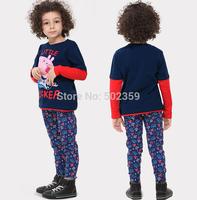 Boys t shirt New Pig pattern round neck long-sleeved cotton T-shirt Boys Spring and Autumn 2014 fashion boy t shirt NTZ0701